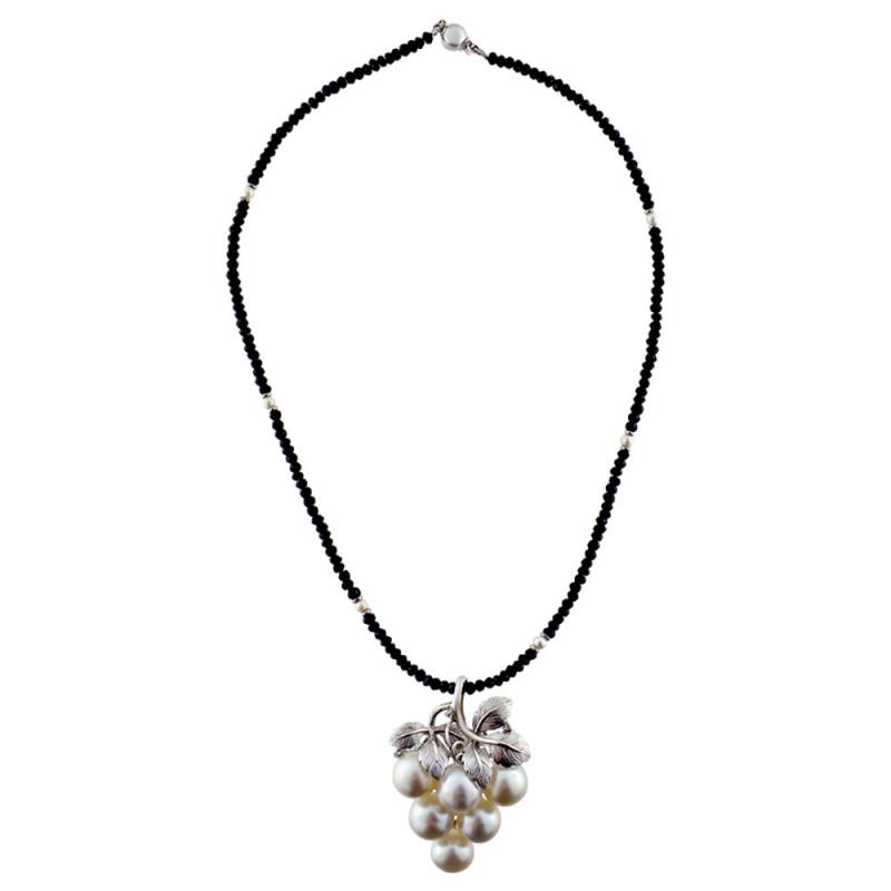 Κολιέ με spinel μαργαριτάρια South Sea Australia και λευκόχρυσο Κ18 - 120670